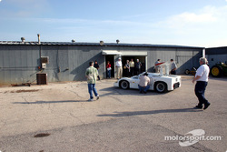 Chaparral 2F in front of Chaparral Cars shop building