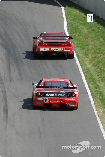 #36 TPC Racing Porsche GT3 Cup: Michael Levitas, Randy Pobst, Scott Maxwell, and #62 Honda of America Racing Team Acura NSX: Pete Halsmer, John Schmitt