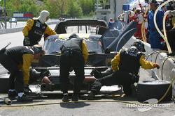 SunTrust Racing crew work on the #10 car