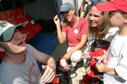 Dale Earnhardt Jr. meets a 'Make a wish' kid
