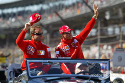 Drivers presentation: Rubens Barrichello and Michael Schumacher