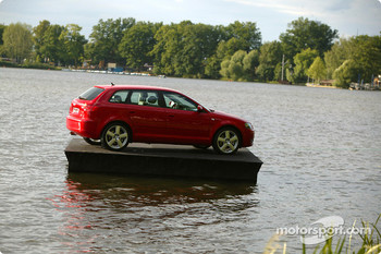 A floating Audi A3 Sportback