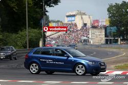 Audi parade: the new Audi A3 Sportback on the Norisring