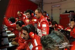 Rubens Barrichello in Ferrari telemetry center