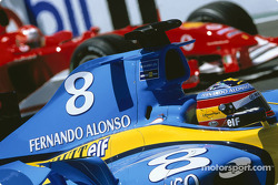 Fernando Alonso on pole position