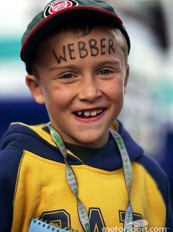 A young Mark Webber fan