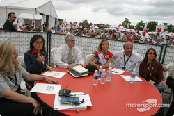 Bronte Tagliani with members of the jury
