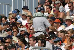 Trois-Rivières fans watch the race action