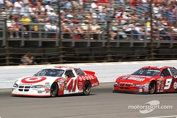 Kasey Kane prepares to pass Casey Mears