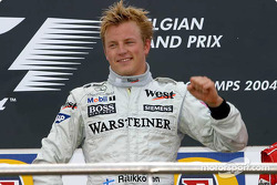 Podium: race winner Kimi Raikkonen