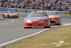 Jeff Gordon leads Tony Stewart