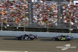 Rusty Wallace and Brian Vickers battle