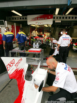 Toyota team members at work