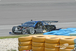 Wrecked #58 Brumos Racing Porsche Fabcar: David Donohue, Darren Law