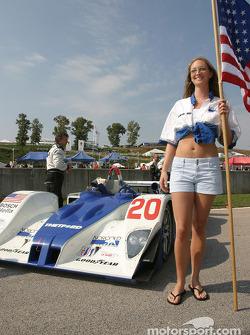 The lovely Dyson Racing Team flag girl