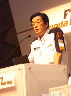 Honda Racing press conference: Takeo Kiuchi