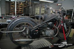 Motorcycle in process of restoration