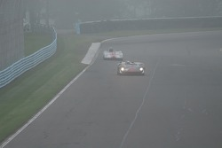 Visibility fades as the fog rolls in on Archie Urciuoli Lola T-70 Spyder.