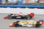 Helio Castroneves, Team Penske and Bertrand Baugette, Conquest Racing