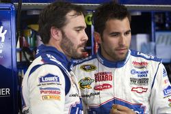 Jimmie Johnson, Hendrick Motorsports Chevrolet and Aric Almirola