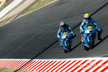 Alvaro Bautista, Rizla Suzuki MotoGP and Loris Capirossi, Rizla Suzuki MotoGP