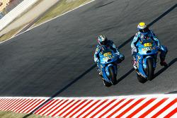 Alvaro Bautista, Rizla Suzuki MotoGP and Loris Capirossi, Rizla Suzuki MotoGP