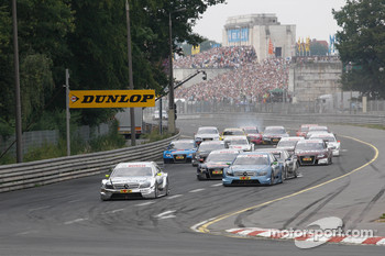 The Norisring last year, Ralf Schumacher leads the pack into the first hairpin