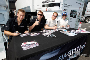 Autograph session: Michael Krumm, Peter Dumbreck, Jamie Campbell-Walter and Warren Hughes