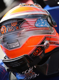 The helmet of Josef Newgarden