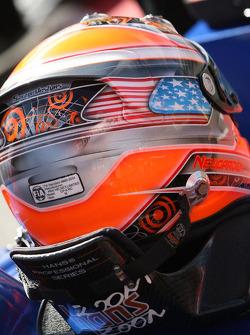 The helmet of Josef Newgarden