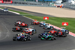 Josef Newgarden leads Ivan Lukashevich and the mid field
