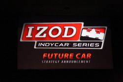Press conference of the IndyCar 2012 future strategy car at the IRL headquarters at IMS