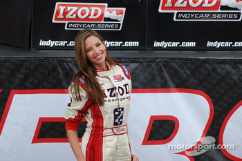 Victory lane: the charming Izod girl