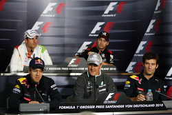 FIA press conference: Sebastian Vettel, Red Bull Racing, Adrian Sutil, Force India F1 Team, Michael Schumacher, Mercedes GP, Timo Glock, Virgin Racing, Mark Webber, Red Bull Racing
