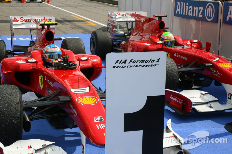 Bedankt Felipe, Massa laat Alonso winnen in Hockenheim, 2010