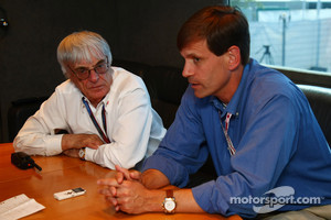 Tavo Hellmund and Bernie Ecclestone