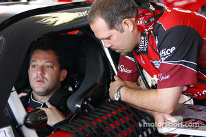 Tony Stewart, Stewart-Haas Racing Chevrolet and crew chief Darian Grubb