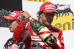 Podium: second place Fernando Alonso, Scuderia Ferrari
