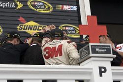 Victory lane: race winner Greg Biffle, Roush Fenway Racing Ford celebrates