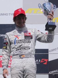 Podium: third place Roberto Merhi, Muecke Motorsport, Dallara F308 Mercedes