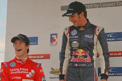 Calado and Webb on the podium