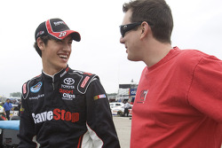 Joey Logano and Kyle Busch talk