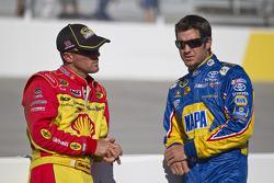 Kevin Harvick, Richard Childress Racing Chevrolet and Martin Truex Jr., Michael Waltrip Racing Toyota