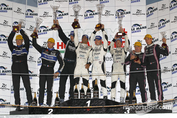 LMP2 podium: class and overall winnersNick Leventis, Danny Watts and Jonny Kane, second place Miguel Amaral and Olivier Pla, third place Mathieu Lahaye and Jacques Nicolet