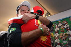 Felipe Massa, Scuderia Ferrari, Rubens Barrichello, Williams F1 Team, celebrate the 300th race of Rubens Barrichello, Williams F1 Team
