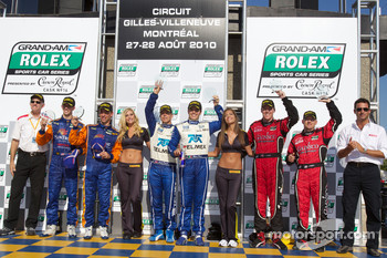 DP podium: class and overall winners Scott Pruett and Memo Rojas, second place Jon Fogarty and Alex Gurney, third place Max Angelelli and Ricky Taylor