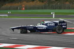 Trouble for Rubens Barrichello, Williams F1 Team