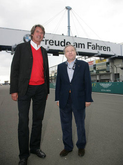 FIA President Jean Todt, guest of ADAC Nordrhein, with Hermann Tomczyk ADAC Sport president