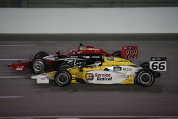 Justin Wilson, Dreyer & Reinbold Racing and Graham Rahal, Sarah Fisher Racing