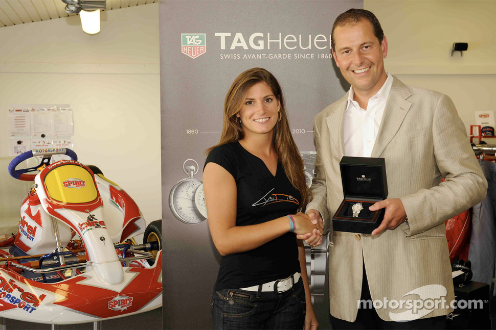 Cyndie Allemann new Ambassador of TAG Heuer: Cyndie Allemann et Christian Adam, Swiss Market General Director TAG Heuer